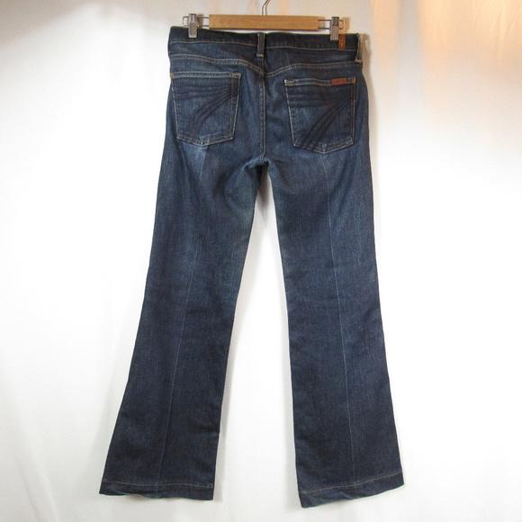 7 For All Mankind Denim - 7 For All Mankind Dojo Flare Denim Dark Jeans